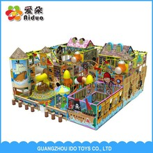 Fashion Desigh promotion Galvanized and PVC used on sale indoor soft playground equipment with baby swing toy