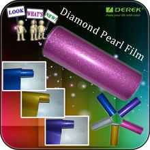 Diamond Glitter Film with air free channels / Glitter Pearl film for car Wraps