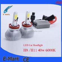Super bright 40w led headlight h8 H11,car led headlight h11, h11 cob led car light