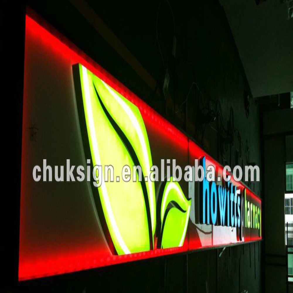 Led Lights For Outdoor Signs : used outdoor lighted signs RGB outdoor advertising sign LED wall light