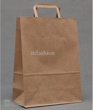 2015 best sale kraft paper bag, good quality paper kraft bag with handle, luxury paper shopping bag with your logo printed