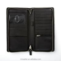 RFID Blocking Zip Around Travel Wallet