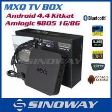 Quad Core MXQ TV Box Amlogic S805 Android 4.4 XBMC13.2 Smart tv box MXQ