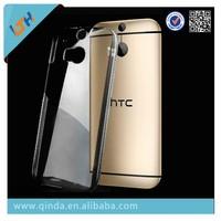 2015 hot sale transparent tpu case for htc one m8