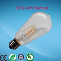 new model 360 degree led filament bulb dim filament led bulb e27 cob St64 led bulb lamp