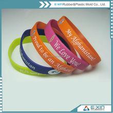 Popular Gifts Hot Selling Engraved Logo Silicone Bracelets Wristband