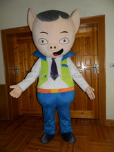 promotional Lovely customized cartoon pig mascot costume for adult wearing