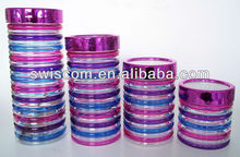 4pcs glass canister set with hand painting SL051-H2-ABCD2