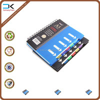 Customized pp plastic cover notebooks with spiral