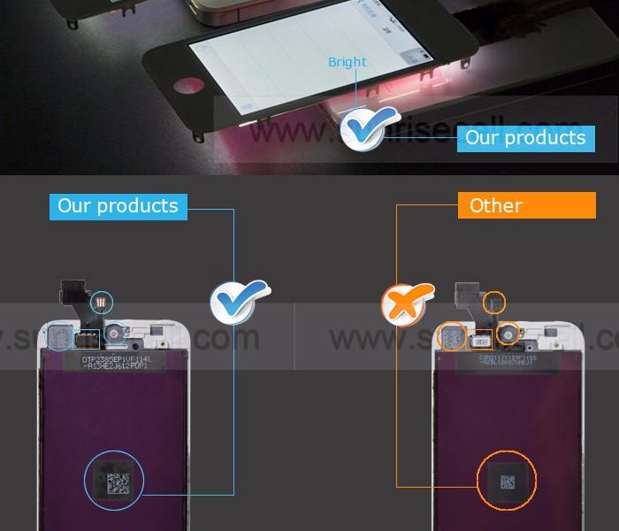 Atacado Substituição Da Tela LCD Para iPhone 5 Lcd, Para iPhone 5 Tela Replacment