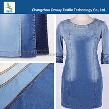 China stretch 8OZ twill slub cotton lycra denim fabric wholesale
