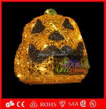 Led acrylic halloween decoration pumpkin lights