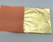 Hot sell color 2.5 booklet Italian imitation gold leaf