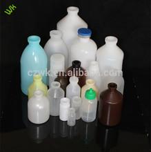 Todo el tamaño, pe, la vacuna de plástico de la botella con la tapa de goma