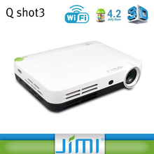 JIMI China supply good price high quality perfect sound 5.1 home theater android projector Q3