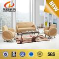 Rodada sofá de canto moderno sofá de couro sofá de couro do escritório conjunto S821
