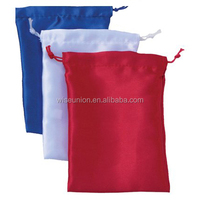 marketing logo photo customizable satin bags/pouches
