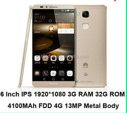 "China cheap phone Huawei Ascend Mate 7 Luxury 4G LTE Phone 6"" Kirin 925 Octa Core Android 4.4 Smartphone Fingerprint Identify 3G"