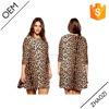 2015 crew neckline leopard casual dress plus size XL-XXXXL woman clothing