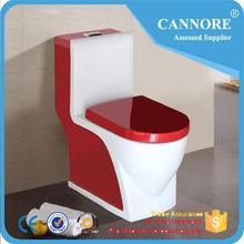 Fashion two color sanitary ware Ceramic one piece red toilet for bathroom