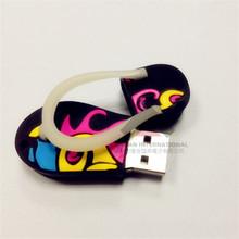 Custom PVC 2GB 4GB Soft Slippers USB Flash Drives