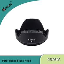 kernel 58mm Screw Mount Flower Petal Shaped Lens Hood