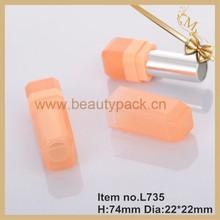 2015 Spring/summer popular cosmetic colorful plastic square cosmetic lipstick case