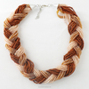 Seed Bead Layering Braided Necklace,Bead For Making Necklace(SWTAA649)