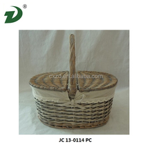 Natural white wicker willow basket 2015 popular sale