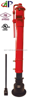 """UL FM APPROVED CAST IRON VERTICAL TYPE INDICATOR POST WITH 2""""-12"""" PORT SIZE"""