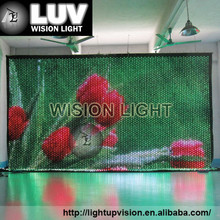 Video products led curtain wall light,video led curtain for stage
