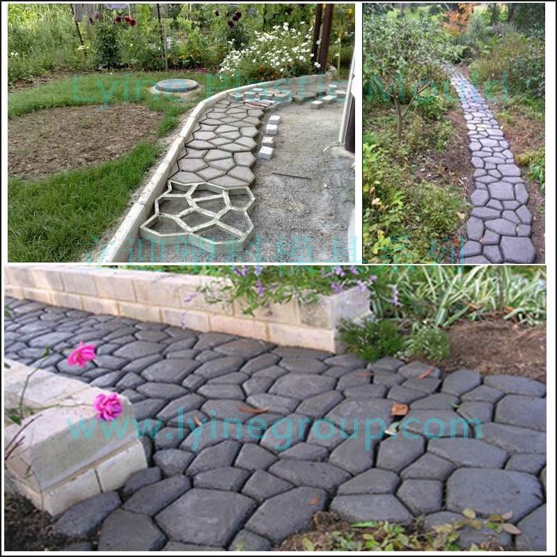 Lyine Diy Plastic Driveway Patio Random Concrete Stamping