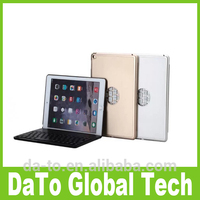 Free DHL Aluminium Folio Bluetooth Keyboard Cases Cover with Backlit Light For iPad Air 2