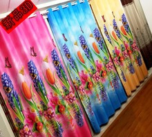 Terri lun cSupply all kinds of curtain fabric finished blackout curtains Special homegrown manufacturers 3D photo print curtains