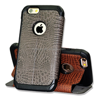 Flip Wallet PU leather Case Crocodile Pattern Cover Skin for iPhone6/6S