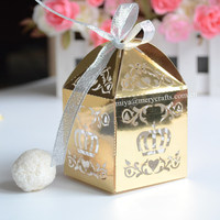 custom crown favors gold party give away for guests