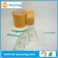 heat resistant high adhesion double sided foil tape, double side glassine release paper,double sided film