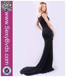 Sexy Strapless girl long party dress chiffon evening dress