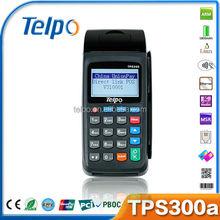 China hot sale TPS300 wifi smart card reader gsm wireless gprs 3g handheld pos machine with printer&rfid reader/msr