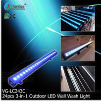 Vangaa 24pcs 3w RGB 3-in-1 Outdoor DMX RGB Washer LED flood Light Strobe Bar Light