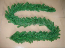Hot sell cheap PVC Green Christmas Garlands without decorations