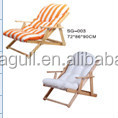 cheap/ comfortable /modern birch wood lounge/indoor/outdoor furniture beach chair with canvas cover