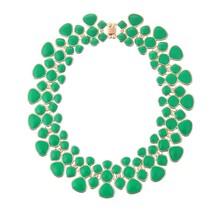 2015 New design colorful enamel collar necklace gold enamel chunky collar necklace collar jewlery