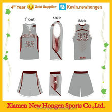 Good quality best sell boy's basketball top with short