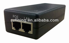 Passive POE injectors(48V0.4A) used for wireless access points,security systems,IP print servers,Rfid readers