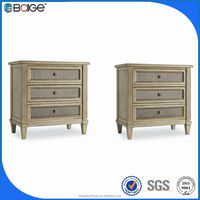 NS-0008 good quality hand painted antique gold night stand