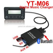 YT-M06 digital music changer >>opel zafira car radio cd mp3 playing kit
