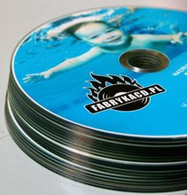 CDs / DVDs with colorful printing