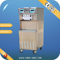 "BXR-2258 2 "" Embraco""compressors self clean soft ice cream machine snow white snowwhite ice cream machine"