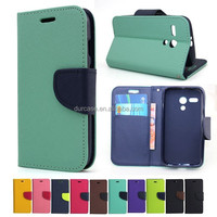 Colorful book style phone flip leather case for Samsung Galaxys S4 Active LTE-A with stand function and card slot